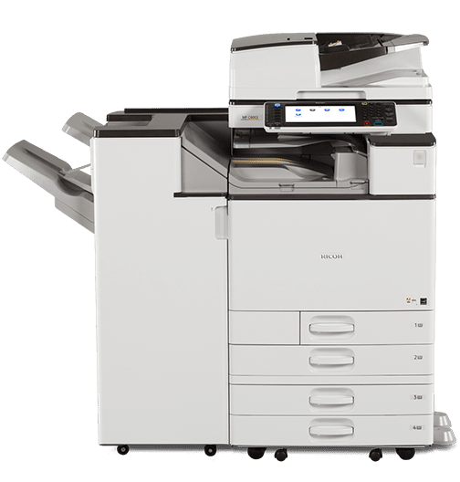 Absolute Toner $159/month - Ricoh Copier 55PPM for Mid - High Volume Colour Printing - Full Service Only 1.5 cent b/w 7.5 cent/color - Multifunction Printer Copier Scanner Lease 2 Own Copiers