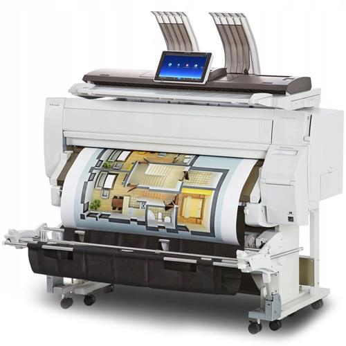 "Absolute Toner $109/month (VERY LOW METTER) 36"" Ricoh Plotter MP CW2201SP 2201 Wide Format Color Multifunction Inkjet Printer with SCANNER Large Format Printer"
