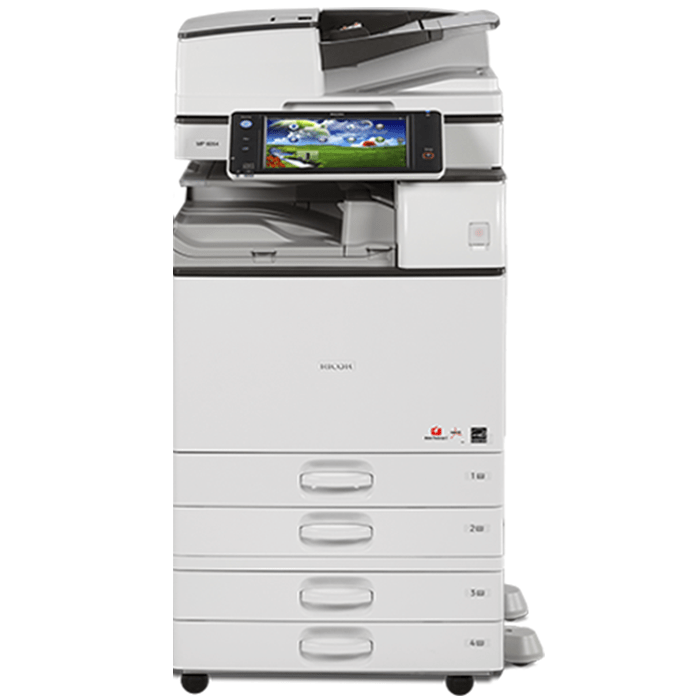 Absolute Toner Ricoh MP 6054 Monochrome Multifunction Laser Printer Copier Scanner (11X17, 12x18) For Office - $95/Month Showroom Monochrome Copiers
