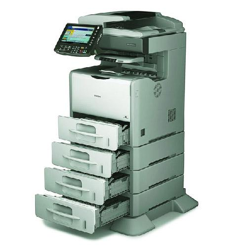 Absolute Toner Pre Owned Ricoh SP 5210 5210SR Black & White Copier Printer Color Scan High Speed office photocopier Office Copiers In Warehouse