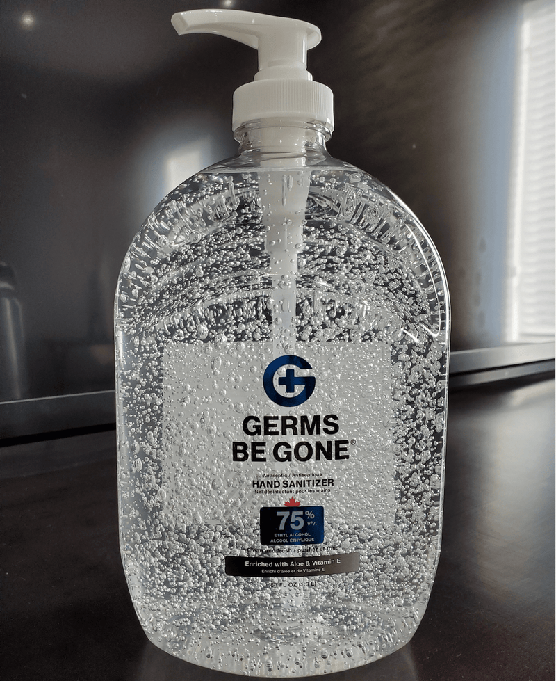 Absolute Toner From $28.32 X-LARGE (64 OZ) 1.9 Liter Germs Be Gone® 75% Alcohol, Aloe and Vitamin E Health CANADA Approved - GEL Hands Sanitizer Sanitizer