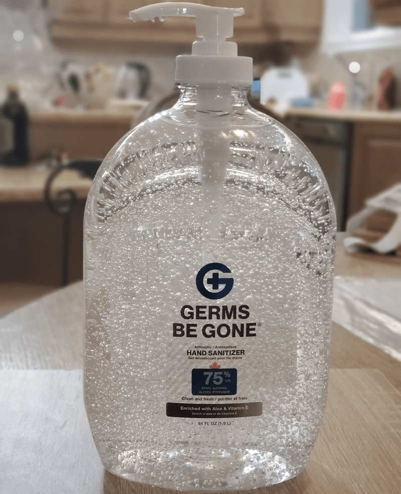 Absolute Toner From $28.32 Germs Be Gone® X-LARGE (64 OZ) 1.9 Liter- 75% Alcohol, Aloe and Vitamin E Health CANADA Approved - GEL Hands Sanitizer Sanitizer