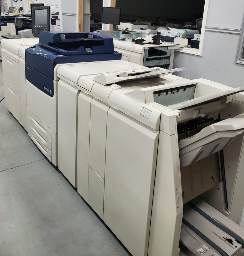 Absolute Toner From $251/Month VERY LOW COUNT from 177K - Xerox Versant 80 Press color Production printer copier 350gsm (16pt.) 13x19 Booklet, LCT, Fiery 80 ppm Showroom Color Copiers