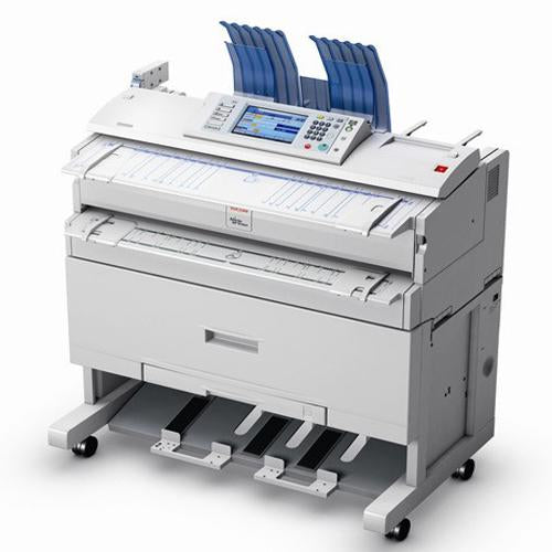 Absolute Toner $59.95/Month with only 17k Feet Ricoh Aficio MP W3601 Wide Format Digital Imaging System color Scanning showroom Copier