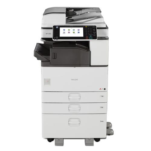 Absolute Toner $65/Month Ricoh MP C3003 Colour Multifunction Laser Printer Copier 11x18 12x18 Stapler Showroom Color Copiers