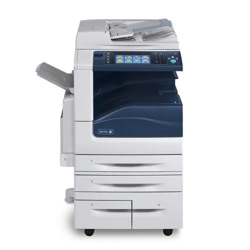 Absolute Toner Xerox WorkCentre 7855 Color Laser Multifunctional Printer Copier, Scanner With 4 Paper Cassettes (2 Large Capacity), LCD, 11x17 Showroom Color Copiers