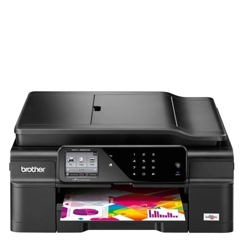 Brother MFC-J650DW Inkjet Color Printer Plus 6 FREE inks (Total 10 cartridges)