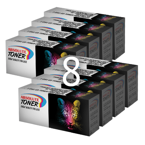 Absolute Toner Compatible Brother TN-210 + DR-210 Cartridge Combination (4 toners: black, cyan, magenta, yellow + 4 drums) Brother Toner Cartridges
