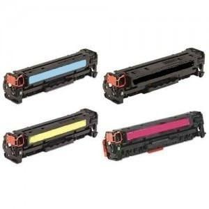 Absolute Toner Compatible PREMIUM QUALITY  Canon 118 Toner Cartridge Color Combo Black Cyan Magenta Yellow Canon Toner Cartridges