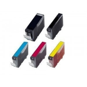 Canon PGI-220 & CLI-221 Compatible Ink Cartridge Combo (2 Black, Cyan, Magenta, Yellow)