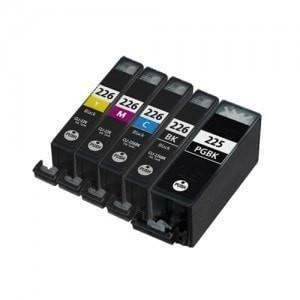 Canon PGI-225 + CLI-226 Compatible Ink Cartridge Combo of 5 (2 Black, Cyan, Magenta, & Yellow)