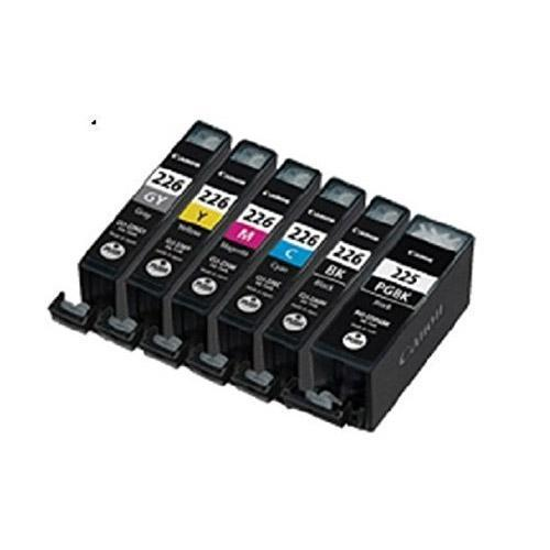 Canon PGI-225 + CLI-226 Compatible Ink Cartridge Combo of 6 (2 Black, Grey, Cyan, Magenta, & Yellow)