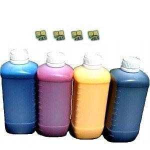 Absolute Toner Compatible Refill for HP 126A Toner Cartridge 4 Bottles + chip (HP CE310A CE311A CE312A CE313A) HP Refill