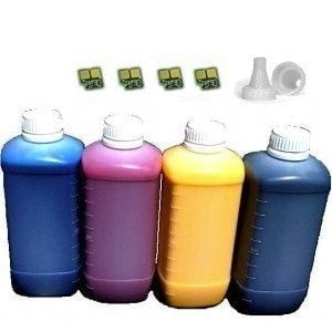 Compatible Refill for HP 504A Toner Cartridge 4 Bottles with 4 Chips (CE250A CE251A CE252A CE253A)