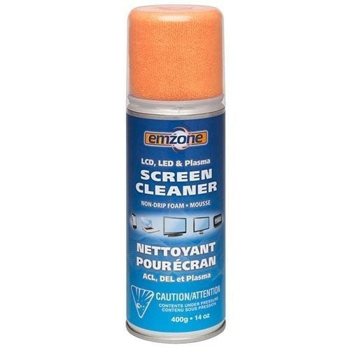 Absolute Toner Emzone Foam Screen Cleaner with Cloth Desk Accessories