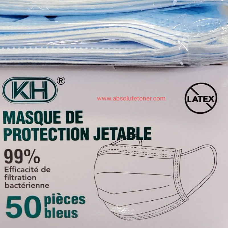 Absolute Toner 99% HIGH FILTRATION From $6.99 - MADE OF 99% HIGH FILTRATION FABRIC - TOP BRAND KH®️ Disposable 3 Ply Filter Safety Face Mask with adjustable bridge clip Face Mask