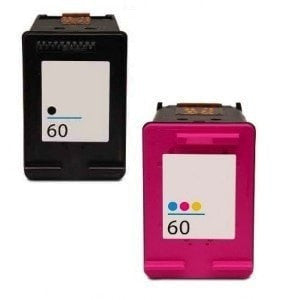 HP 60XL Compatible Black & Tri-Color Ink Cartridge Combo (CC641WN/CC644WN)