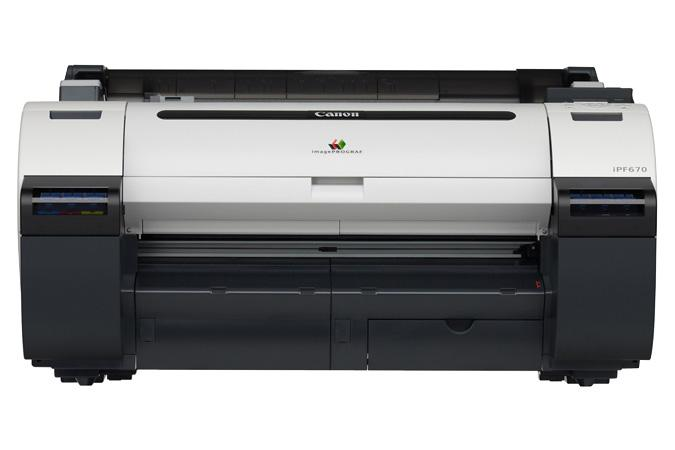 "24"" Canon ImagePROGRAF iPF670E Graphic Color Large Format Printer"