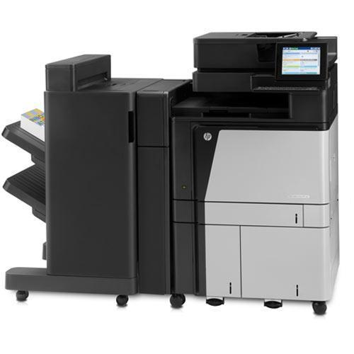Absolute Toner $56.63/Month Repossessed Like New with 1K - HP Color LaserJet Enterprise flow MFP M880 Printer Scanner Fax Stapler Finisher Booklet Hole Punch 11X17 Showroom Color Copiers