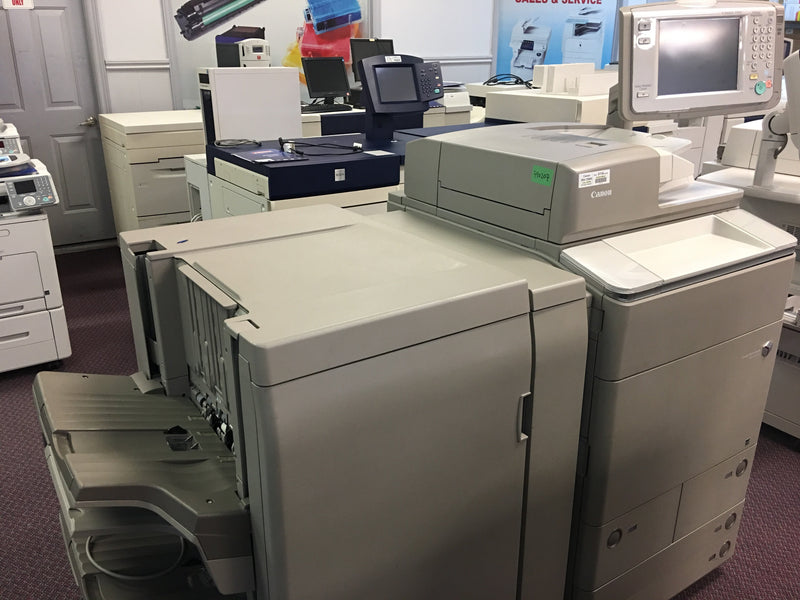Absolute Toner Pre-owned Canon imageRUNNER ADVANCE C9065 Pro Color Copier Booklet Maker REPOSSESSED Office Copiers In Warehouse