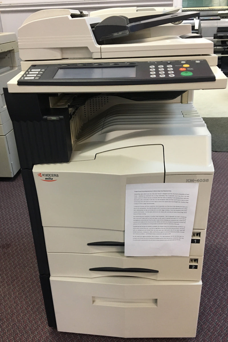 Pre-owned Kyocera KM-4035 Black and White A3 11x17 Multifunction Printer Copier Scanner Fax