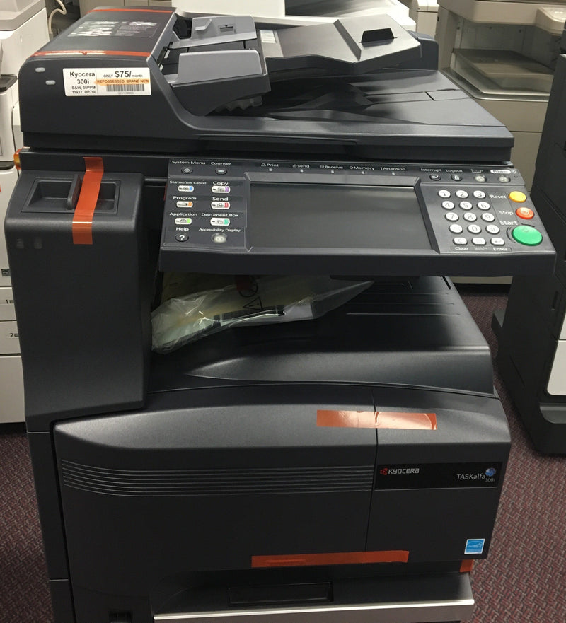 Pre-owned Kyocera TASKalfa 300i Monochrome Copier Printer Color Scanner 11x 17 Brand New REPOSSESSED
