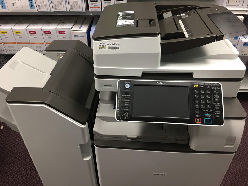 Absolute Toner $76/Month Ricoh MP 5054 with Only 9K Page count Black and White Laser Multifunction Printer Copier Scanner Showroom Monochrome Copiers