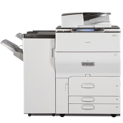 Absolute Toner Ricoh MP C6502 Color Laser High Speed 65 PPM Copier 12x18 with Booklet Maker Finisher Showroom Color Copiers