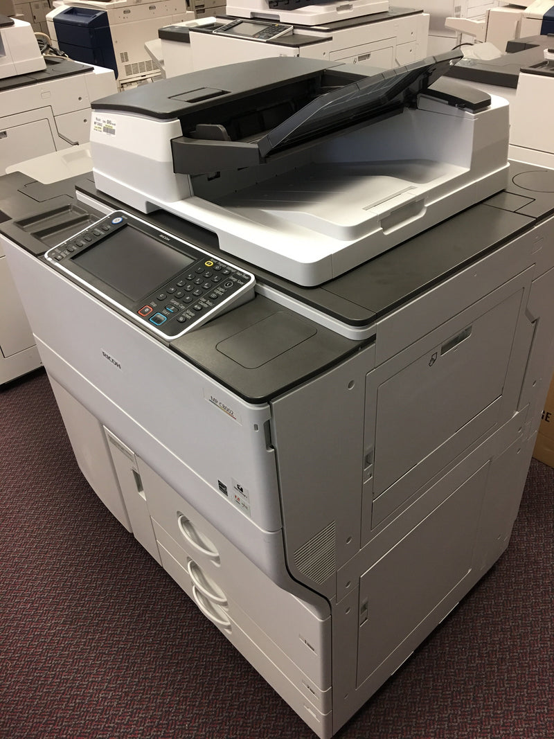 Absolute Toner $117/month Pre-owned Ricoh MP C8002 80PPM Color Laser Production Printer Copier Scanner Finisher 13x19 12x18 11x17 Office Copiers In Warehouse