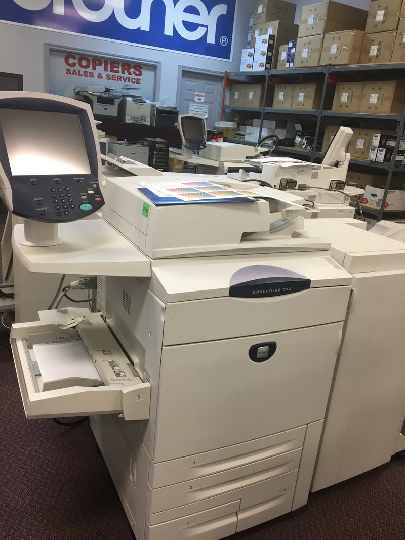 Absolute Toner Pre-owned Xerox DocuColor DC 252 Color Copier Production Printer Scanner 11x17 12x18 13x19 Office Copiers In Warehouse