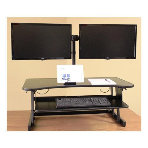 Strange Rocelco Dm2 Dual Monitor Mount For Desks And Sit Stand Desk Risers Download Free Architecture Designs Xoliawazosbritishbridgeorg