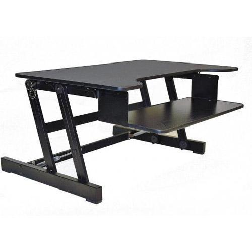 "Rocelco EADR 32"" Sit To Stand Ergonomic Adjustable Height Desk Riser w/ Easy Up-Down Handles"