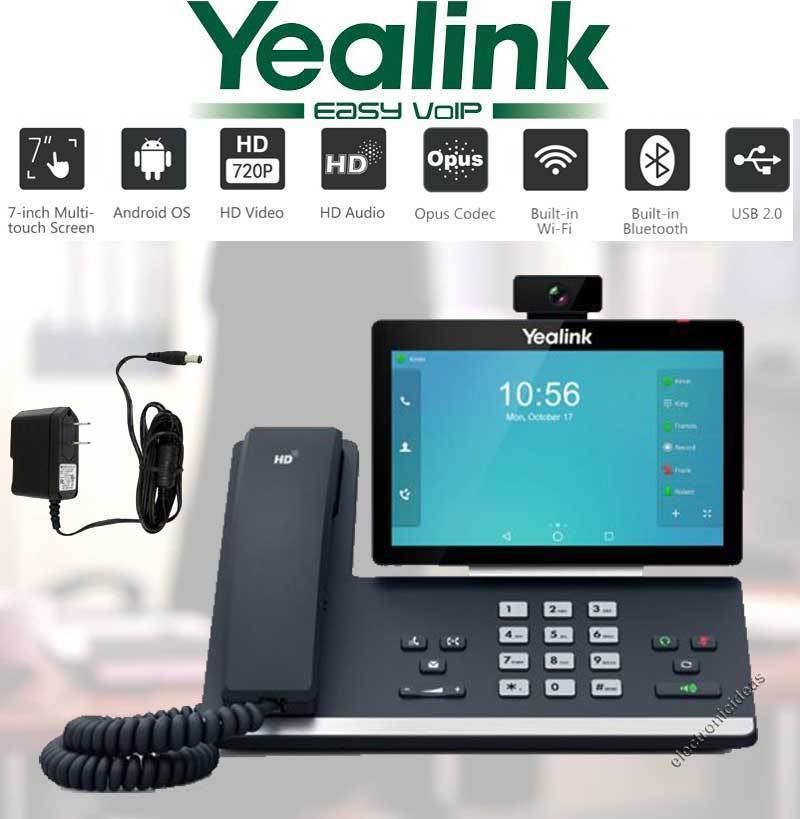 Absolute Toner YEALINK SIP-T58V SMART VIDEO/MEDIA IP PHONE WIFI BLUETOOTH ANDROID