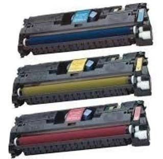 Toner Cartridge Compatible HP 121A Combo of 3 (Cyan, Magenta, & Yellow)