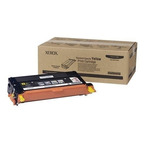 Xerox 113R00721 OEM Yellow Toner Cartridge (Xerox 6180)