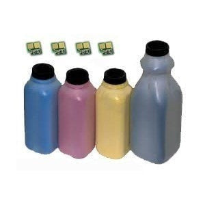 Xerox 6180 Compatible Black, Cyan, Magenta, & Yellow Toner Refill Kit with Chips