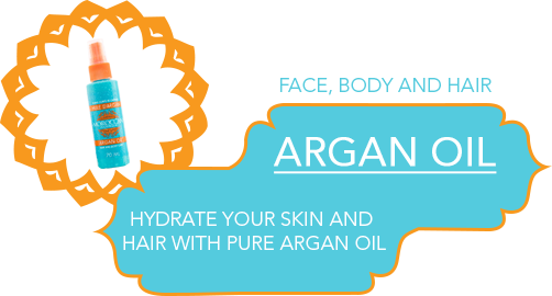 hydrate skin with argan oil instructions