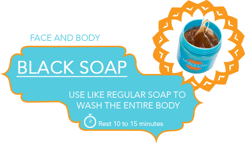 step 1 black soap for face and body