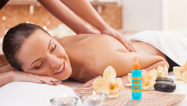 royal massage with argan oil