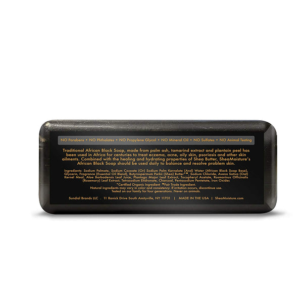 Shea Moisture African Black Soap With Shea Butter 8 oz