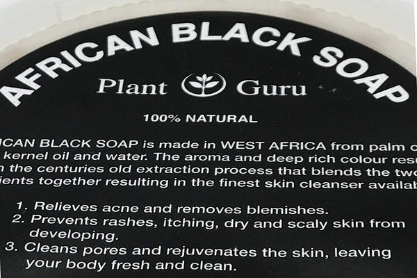 Raw African Black Soap Paste 8 oz