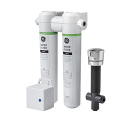 GE Twist and Lock Under Counter Dual Flow Water Filtration System - GXK285JBL