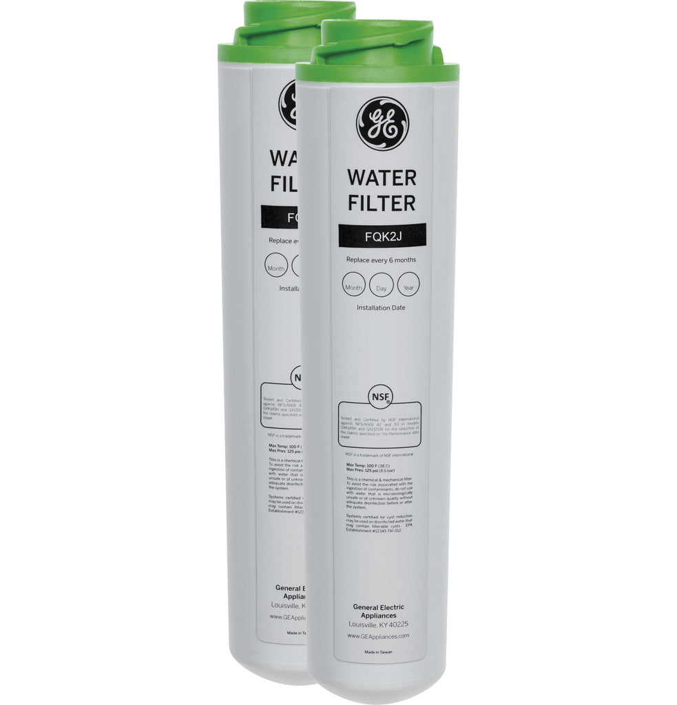 GE Dual Flow Drinking Water Replacement Filters (Pharmaceuticals/Lead/Mercury/VOC) - FQK2J