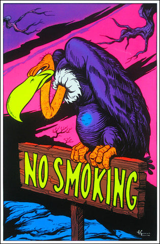 "Felt Black Light Poster - ""No Smoking"""