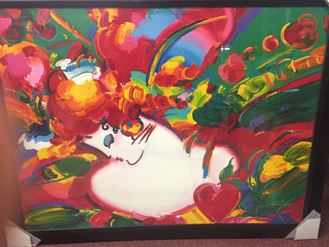 """Flower Blossom Lady""-peter max"