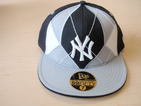 N.Y. Yankees Fitted Hat Blk/ Gry