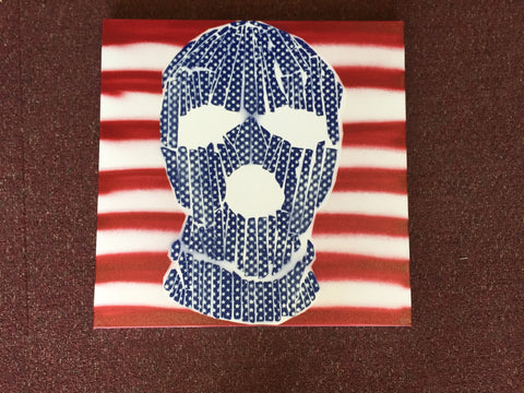 Armando Chainsawhands - 2016 - Stars and Stripes Ski Mask Original Canvas