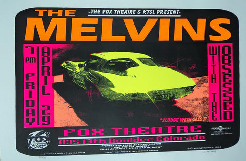 Jeff Holland - 1994 - The Melvins Concert Poster