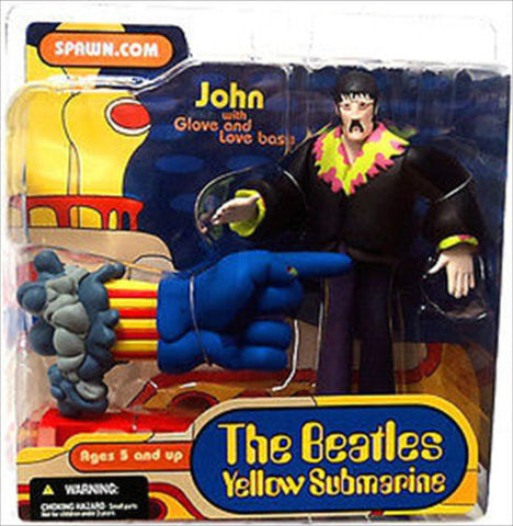 McFarlane - The Beatles Yellow Submarine - John with Glove and Love Base