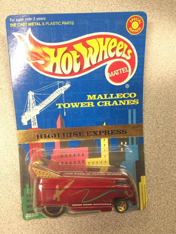 VOLKSWAGEN VW DRAG BUS Hot Wheels 1998 MALLECO TOWER CRANES EDITION